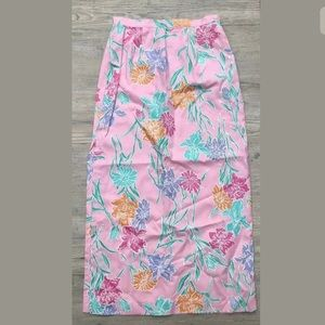Dressy Lilly Pulitzer Floral Maxi Skirt  Summer